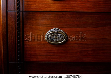 Image of old cupboards locker - stock photo