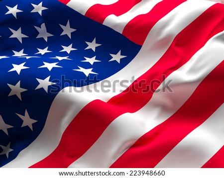 image of old glory american flag - stock photo