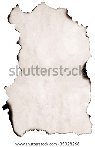 image of old paper with burnt edge