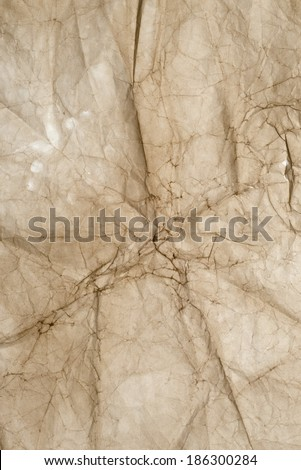 image of old wrinkled paper for background - stock photo