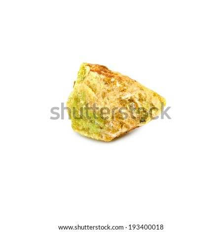image of one opal stone on a white backgroundp - stock photo