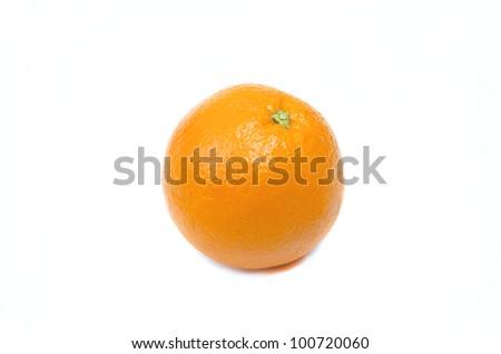 Image of orange fruit isolated on white - stock photo