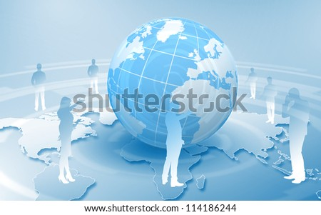 Image of our planet as symbol of social networking