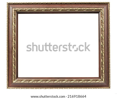 Image of picture frame isolate on white background