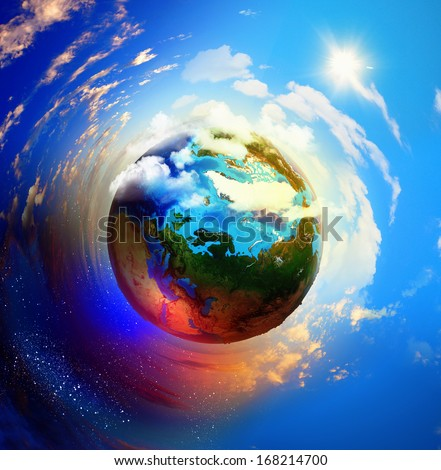 Image of planet Earth planet. Save our planet. Elements of this image are furnished by NASA - stock photo