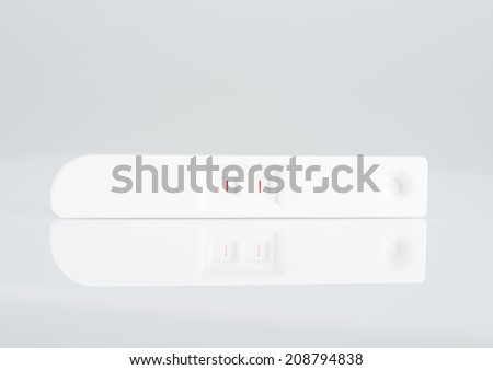 Image of Positive pregnancy test - stock photo