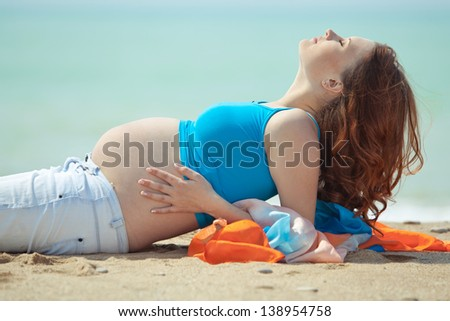 Image of pregnant woman - stock photo