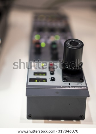 Image of professional remote for TV shooting. - stock photo