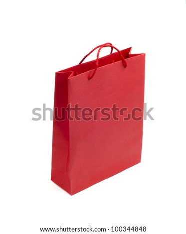 Image of red bag on the white