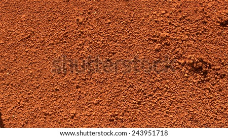Image of red soil texture  - stock photo