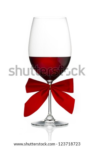 Image of red wine isolated on white background
