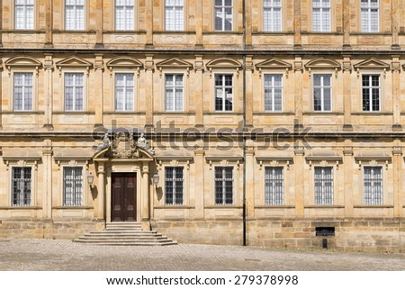 Image of Residenz in Bamberg, Bavaria Germany in summer
