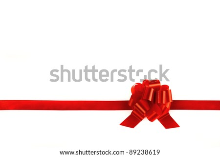 Image of ribbons tied with a red bow