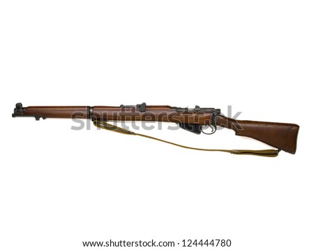 Image of rifle in a horizontal image - stock photo
