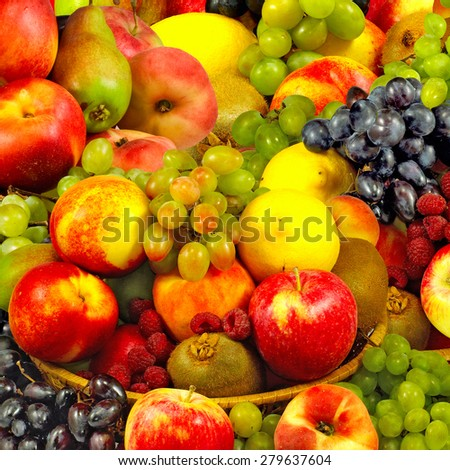 Image of ripe different fruits