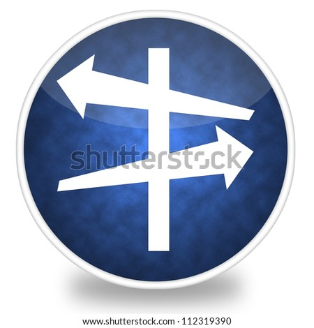 Image of road intersection icon illustration - stock photo
