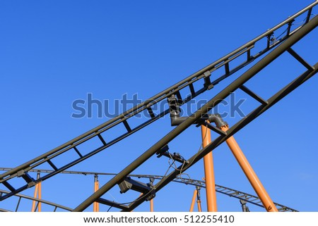 Image of roller coaster in capital city Vienna in Austria