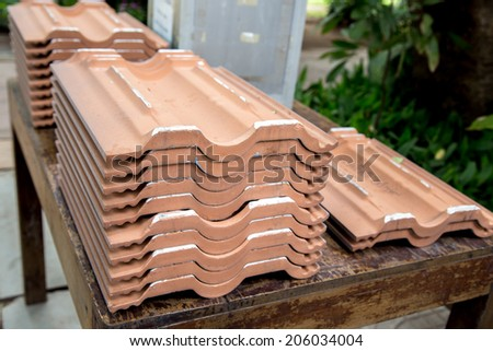 Image of  roof tiles. - stock photo