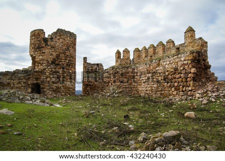Image of Ruins of the castle at El Berueco, Andalusia, Spain
