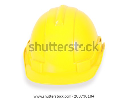 image of safety helmet on white background