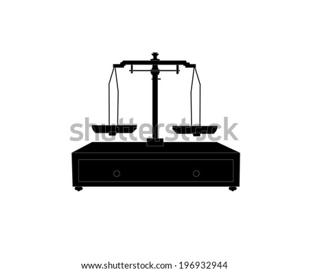 image of scales on white background