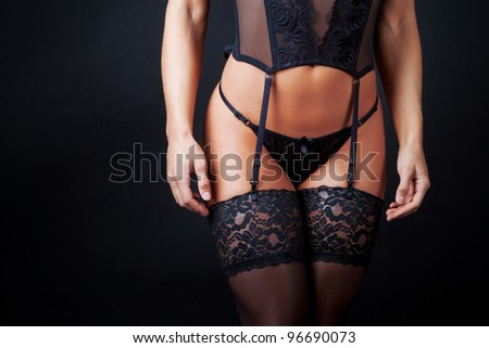 Image of sexy woman in underwear