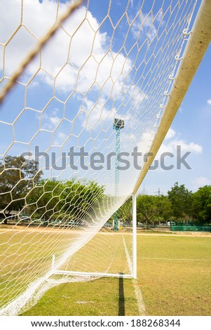 Image of Soccer Goal or Football  - stock photo