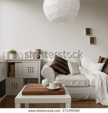 Image of solid and functional white furniture in new style