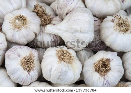 Image of some Garlics at street market