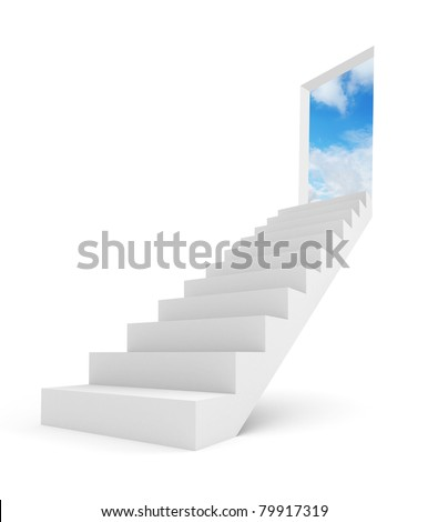 Image of stairway to the top - stock photo