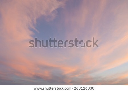 image of sunset clouds - stock photo