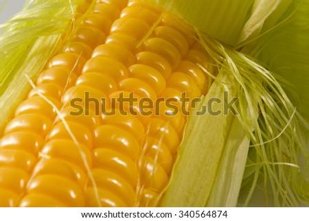 Image of tasty ripe corn close-up - stock photo