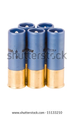 image of the ammunition of a hunting shoot gun - stock photo