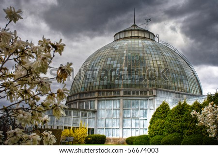 Image of the Anna Scripps Whitcomb Conservatory on Belle Isle Island Park in Detroit, Michigan.