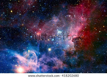 Image of the Carina Nebula in infrared light. Elements of this image furnished by NASA. - stock photo