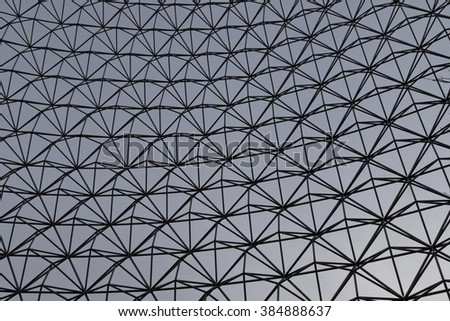 Image of the gray metall lattice wall