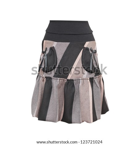 image of the grey woman skirt