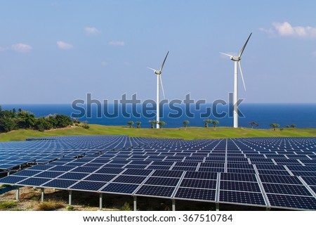 Image of the renewable energy - stock photo