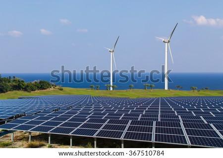 Image of the renewable energy - stock photo