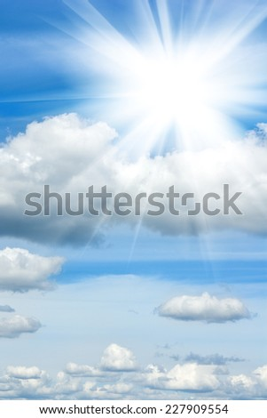 image of the sun and sky - stock photo