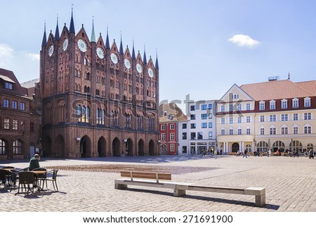 Image of the town hall of Stralsund in Germany
