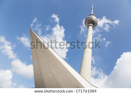 Image of the TV Tower in Berlin, Germany. - stock photo