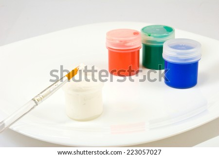 image of three colors on a plate