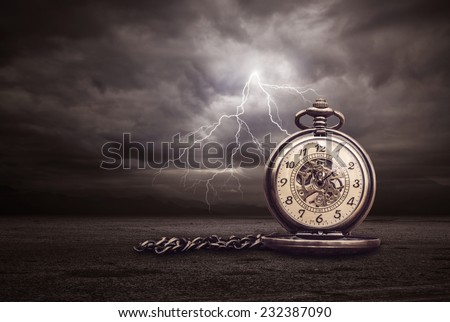 Image of Time and lightning - stock photo