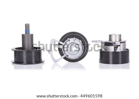 image of Timing belt rollers set - stock photo