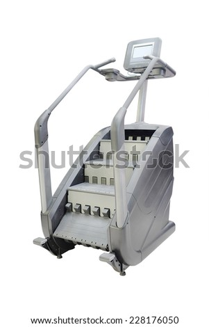 image of treadmill isolated under the white background - stock photo