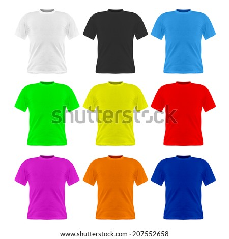 Image of tshirt isolated on a white background.  - stock photo