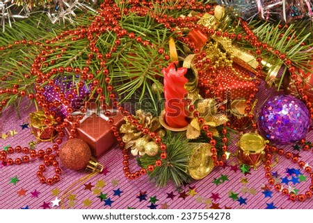 image of  various Christmas decorations