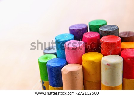 image of various colorful crayons  - stock photo
