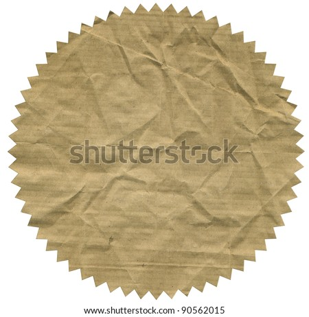 Image of vintage label on white